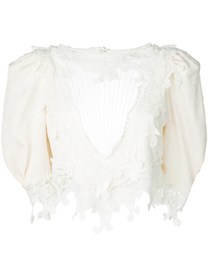 Saint Laurent Jacquard Vintage Blouse (Originally $3990) Sale Tops