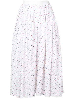 Adam Lippes Cotton Embroidered Midi Skirt (Originally $1350) Sale Skirts