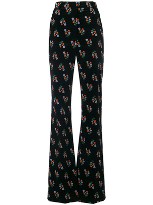 Sonia Rykiel Floral Boot Cut Pants (Originally $550) Pants Sale