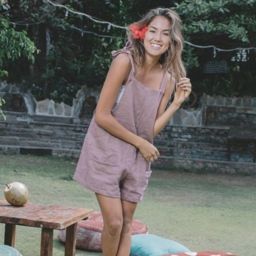 lost and found LOST AND FOUND VIEQUES JUMPER MAUVE Jumpsuits / Rompers