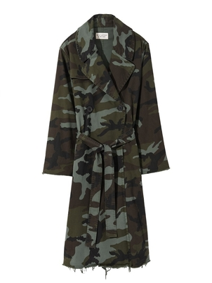Nili Lotan Farrow Camo Trench Coat Outerwear