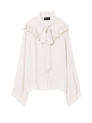 Nili Lotan Vanna Blouse in Ivory Tops