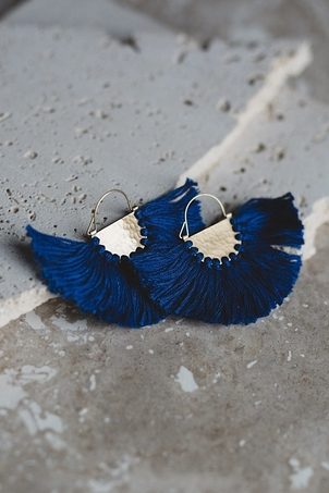 Joya Favorite Fringe Earrings - Cobalt Jewelry