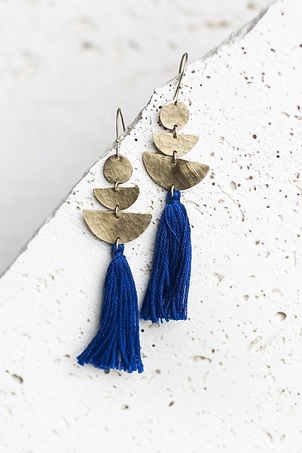 Joya Lucia Earrings - Cobalt Jewelry