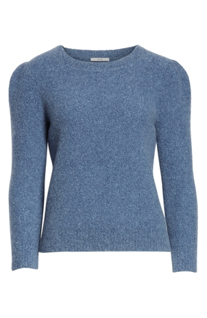 Co Puff Shoulder Cashmere Sweater Tops