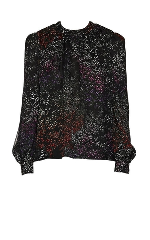 Co Floral Silk Blouse Tops
