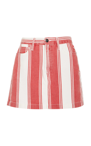 Frame Denim Le Mini Skirt - Red/White Stripe Skirts