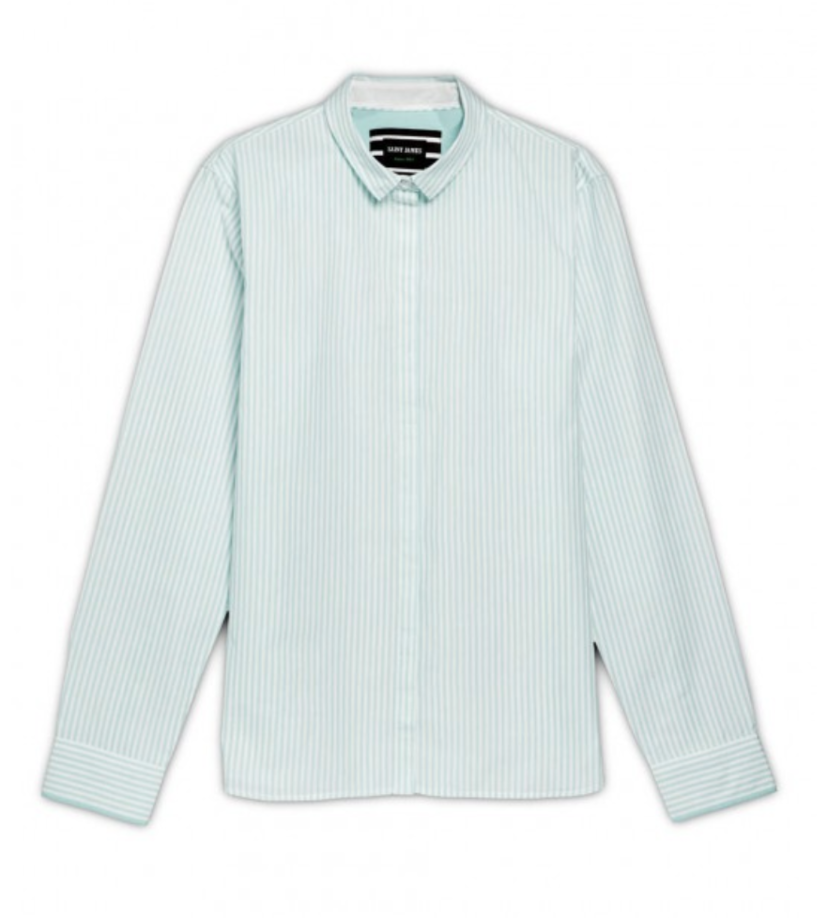 Saint James Floriane Shirt - Aqua Tops