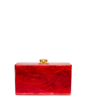 Edie Parker Jean Solid Acrylic Clutch Bag - Red Bags