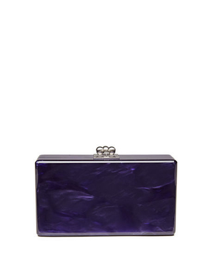 Edie Parker Jean Solid Acrylic Clutch Bag - Purple Bags