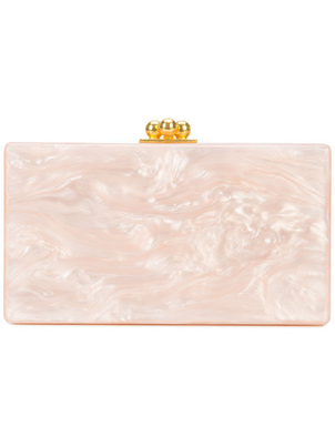 Edie Parker Jean Solid Acrylic Clutch Bag - Nude Bags