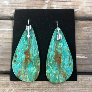 Turquoise Slab Earrings Jewerly