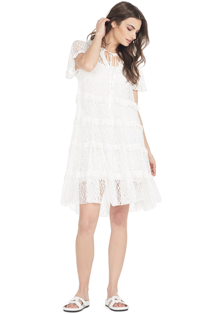 Needle & Thread Tiered Daisy Lace Dress Dresses Sale