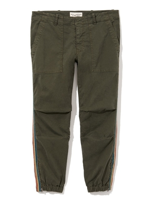 Nili Lotan Cropped French Military Pants in Loden Pants
