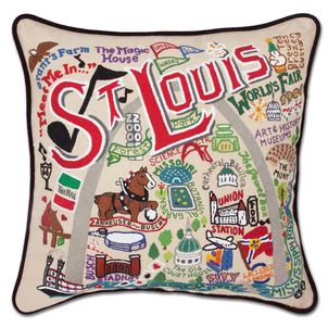 St. Louis Hand Embroidered Pillow Home decor