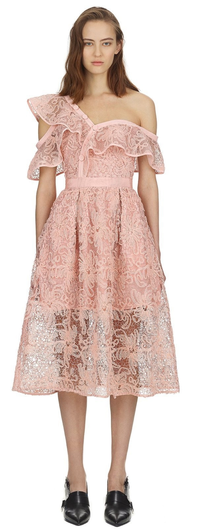 Self-Portrait Floral Lace Midi Dresses