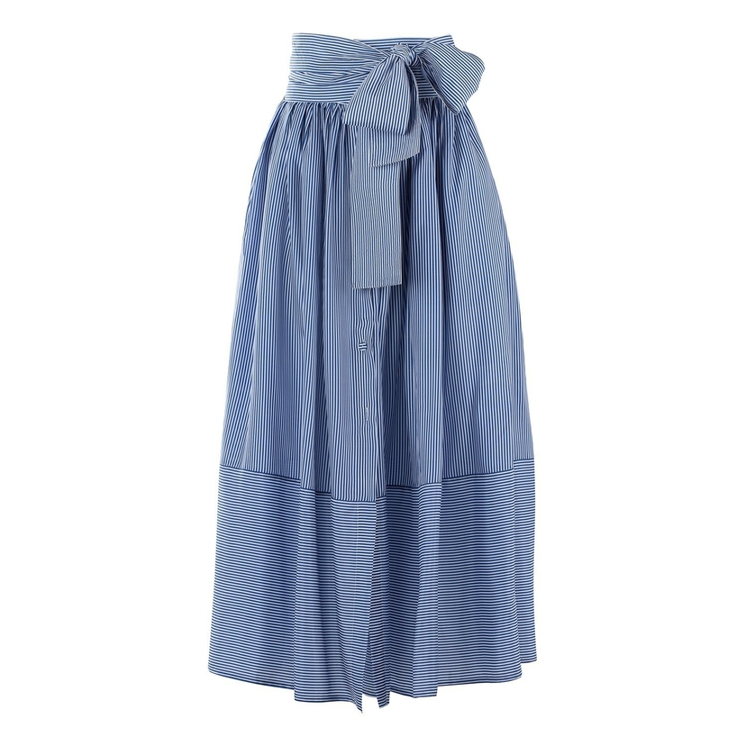 Silvia Tcherassi Vattaro Skirt in Blue Stripe Skirts