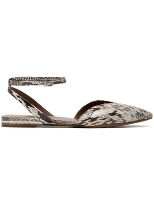 Tabitha Simmons Snakeskin Flats (Originally $895) Sale Shoes