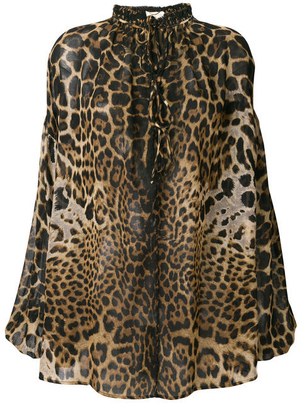 Saint Laurent Leopard Tunic Tops