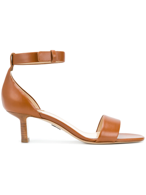 Paul Andrew Brown Leather Ankle Strap Sandals (Originally $745) Sale Shoes