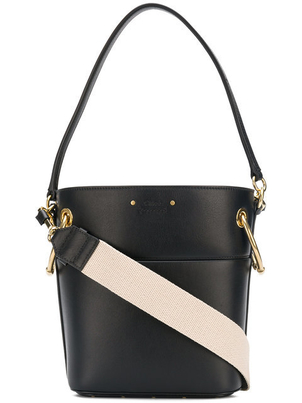 Chloé Small Leather Bucket Bag in Black Bags