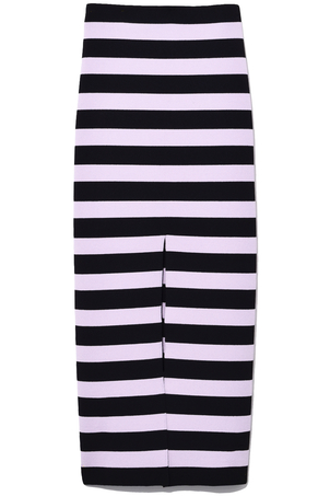 Proenza Schouler Knit Pencil Skirt in Black/Lavender
