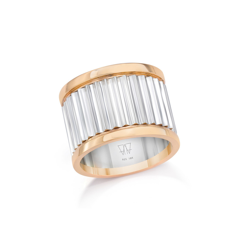 Walters Faith Two Tone Fluted Band Ring Jewelry