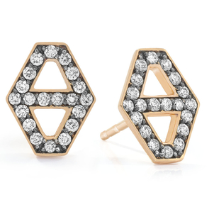 Walters Faith Small Signature Hexagon Diamond Stud Earrings Jewelry