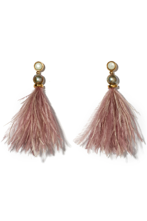 Lizzie Fortunato Parker Earrings in Mulberry Jewelry