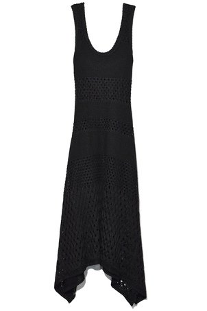 Proenza Schouler Sleeveless Dress with Handkerchief Hem in Black Dresses
