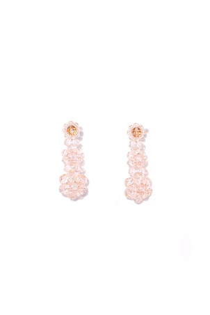 Simone Rocha Three Tier Drop Earring in Pink Jewelry