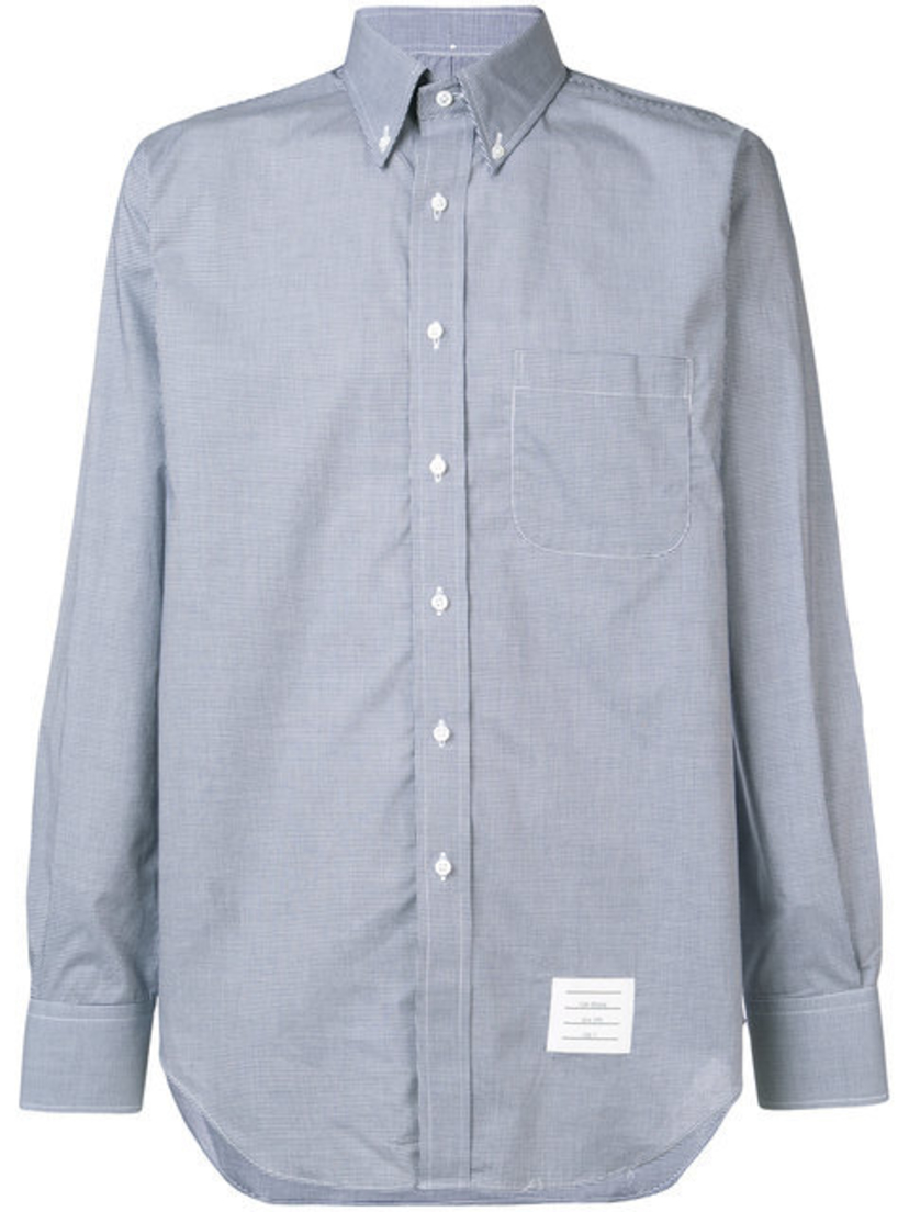 Thom Browne SMALL GINGHAM CHECK POPLIN SHIRT Men's