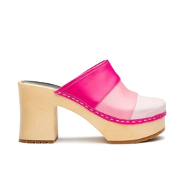 Color Combo Slip In Clog in Pink