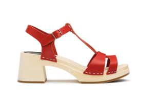 Swedish Hasbeens Birgit Sandal in Red Shoes