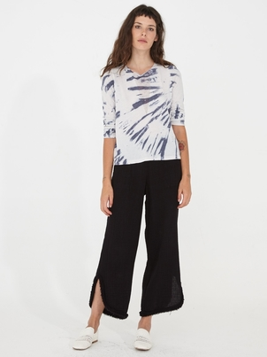 Raquel Allegra RAQUEL ALLEGRA CUT OUT PANT BLACK Pants