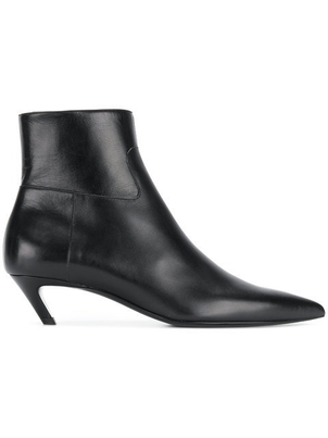 Balenciaga BALENCIAGA BLACK SHORT BOOTIE WITH POINTY TOE Shoes