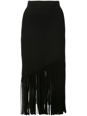 Cushnie et Ochs High Waisted Skirt with Fringe Skirts