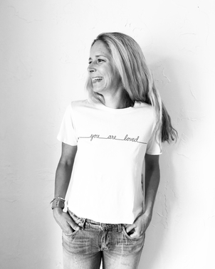 AMO Classic Tee You Are Loved Ivory Tops