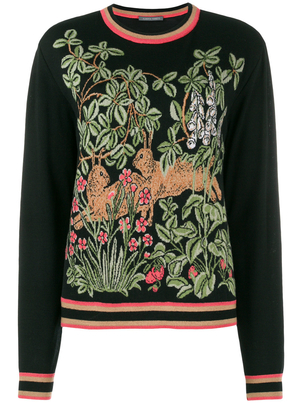 Alberta Ferretti Intarsia Knit Sweater Tops