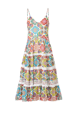 Carolina K Marieta Midi Dress Print Dresses