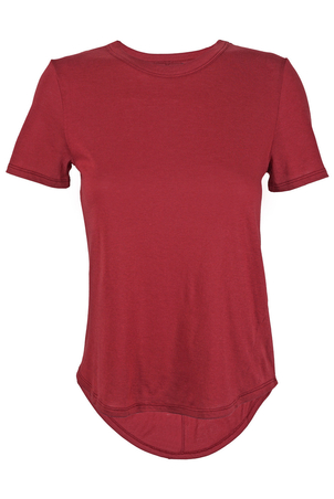 Veronica Beard Lauren Crew Neck T-shirt Red Tops