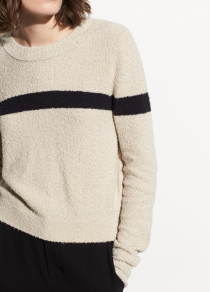 Vince Single Stripe Cotton Pullover Tops