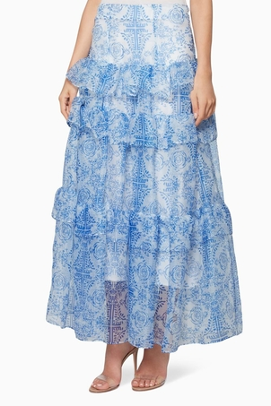 Viva Aviva Flores Skirt Blue (Originally $395.00) Skirts