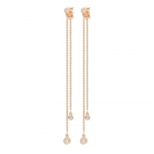Ginette NY Double Lonely Diamond Earrings Jewelry