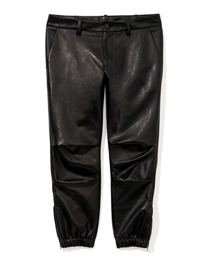 Nili Lotan Cropped French Military Lambskin Leather Pant Pants