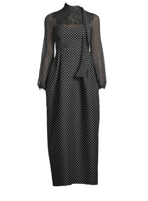 Valentino Long Sleeve Polka Dotted Dress Dresses