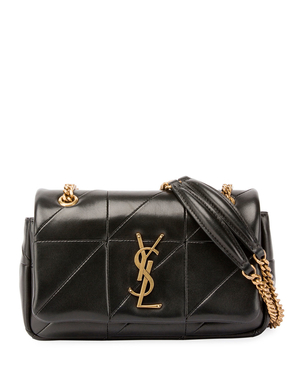 Saint Laurent Small Black Quilted 'YSL' Monogram Bag Bags