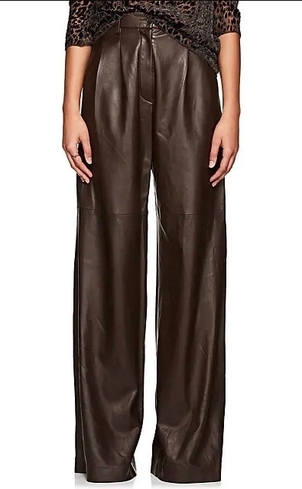 Nili Lotan NILI LOTAN NICO LEATHER PANT BROWN Pants
