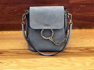 Chloé CHLOE BACKPACK WASHED BLUE Bags
