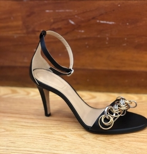 Chloé CHLOE BLACK AND GOLD SANDALS Shoes